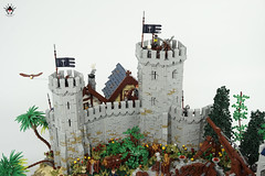 Lond Daer - City beyond the wall (Barthezz Brick) Tags: lego lond daer middle middleearth medieval fantasy moc afol barthezz barthezzbrick brick custom lotr lord rings lordoftherings shipyard pub castle wall city