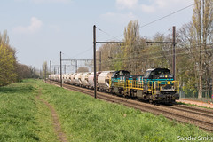 LINΞΛS 7784 Deurne (Sander_Smits) Tags: lineas hlr77 deurne l27a trein railway freight railroad dolime