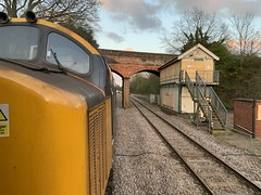 37407 and now disused Reedham signal box 12/04/19 (andyk37) Tags: signalbox largelogo drs 374 reedham 37407
