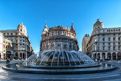 Piazza De Ferrari - Genova (M-Gianca) Tags: italy italia genova piazza sony a6500 fontana acqua città city edifici architettura