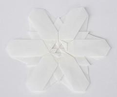 Snowflake (Joseph Wu) (De Rode Olifant) Tags: macromondays whiteonwhite origami origamisnowflake josephwu snowflake marjansmeijsters diagrams bosmagazine187 paper paperart papiroflexia