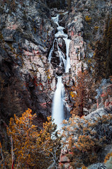 Leavitt Falls (Yaecker Photography) Tags: waterfall waterfalls falls creek water longexposure vignette mountains sierranevada lenstagger