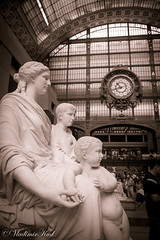 At the railway station (kud4ipad) Tags: 2018 france orsay paris museum sculpture architecture art statue bw