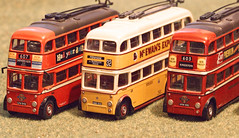 Odd one out - Smile on Saturday (alisonhalliday) Tags: smileonsaturday oddoneout sigma105mm trolleybuses miniaturetrolleybuses canoneos77d buses cmwdyellow cmwd