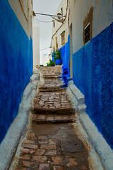 Blue streets of Rabat, Morocco (Bokeh & Travel) Tags: blue street rabat narrow morocco africa architecture kingdomofmorocco kingdom islamic artistic muslim islam cobblestone