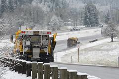 Clearing the road (OregonDOT) Tags: winter snow snowstorm oregondot i5 willamettevalley salem snowremoval snowplow