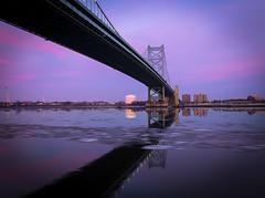 Ben Franklin Sunset (Nick Burwell) Tags: ben franklin canon sunset 6d sigma 35mm cityscape bridge seascape philly philadelphia pennsylvania