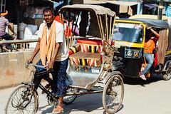 Rickshaw & Tuk Tuk, Varanasi India (AdamCohn) Tags: adam cohn ganga ganges india uttarpradesh varanasi autorickshaw rickshaw streetphotographer streetphotography traffic tuktuk wwwadamcohncom adamcohn