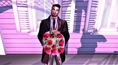 """"""" Pretty flowers for the pretty lady """" (maka_kagesl) Tags: secondlife sl second life game gaming games videogame virtual valentine love luv flower flowers rose roses"""