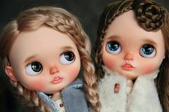 Varya & Masha (.Iuliania.) Tags: blythe customblythe custom mohair reroot