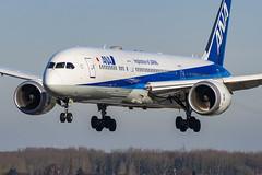 ANA / B789 / JA837A / EBBR 25L (_Wouter Cooremans) Tags: green ebbr bru brusselsairport zaventem spotting spotter avgeek aviation airplanespotting ana b789 ja837a 25l