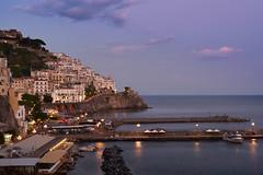 As the sun starts to rise ..Amalfi (AgarwalArun) Tags: sony a7m2 sonyilce7m2 landscape scenic nature views amalfi amalficoast italy europe costieraamalfitana unescoworldheritage bayofnaples sun sunride