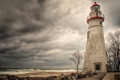 The storm (Gaby Swanson, Photographer) Tags: ohio oh seascapes marbleheadlighthouse lighthouse lakeerie water outdoors marblehead marbleheadohio