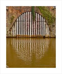 Duke of Bridgewater's Boat House (prendergasttony) Tags: canal nikon d7200 tonyprendergast worsley water boathouse barge black white reflection lancashire england bridgewater brown