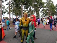 Reverse Flash and Mera Queen of Atlantis (Sconderson Cosplay) Tags: supanova melbourne showgrounds april 2019 cosplay superhero saturday eobard thawne reverse flash supervillain dc comics mera queen atlantis aquaman arrowverse