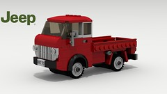 Jeep Forward Control (revised) (LegoGuyTom) Tags: jeep american america classic vintage 1950s 1960s farm truck trucks pickup work lego legos ldd digital designer city car cars pov povray dropbox download lxf