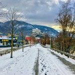 Kufstein by the river Inn with fortress in Tyrol, Austria thumbnail