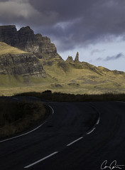 Road to Storr ([CamCam]) Tags: skye isle scotland highland old man storr rock rocks cliff cliffs mountain mountains road shadow camcam