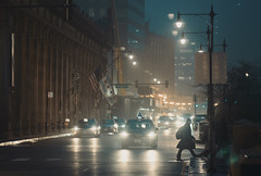 Chicago City Fog (Jovan Jimenez) Tags: sony alpha a6500 nikon seriese 100mm f28 city night chicago mist fog car lights cityscape urban vintagelens manuallens oldlens cinematic streetphotography ais