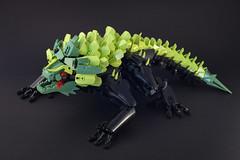 Nui - Meko - 01 (Gamma-Raay) Tags: lego legomoc bionicle lizzard green black creature monster rahi alien
