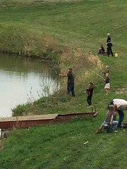 Junior Wildlife Club shoreline fishing at Heitkamp Pond