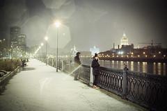 Москва, Краснопресненская набережная. (vadimovich072) Tags: nikonf90 35мм плёнка река набережная аналоговая москва снег россия