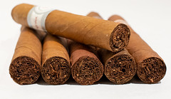 Cigars (atthedouble2) Tags: cigar cigars cuban cigarette smoking tobacco close up macro