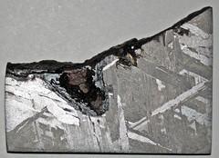 Octahedrite (Brenham Meteorite) (Kiowa County, Kansas, USA) 2 (James St. John) Tags: octahedrite iron meteorite brenham meteorites kiowa county kansas asteroid belt metal kamacite taenite nickel