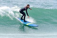 Surfer Girl (alanrharris53) Tags: waves beach surf algarve portugal girl woman surfer board