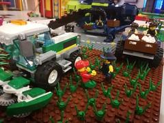 Rex Dangervest & Gang fills up with Supplies from farmer.