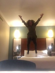55. Hotel beds..... (Surfchild.) Tags: 365the2019edition 3652019 day55365 24feb19 wah hereios werehere joiedevivre jumpingonhotelbeds
