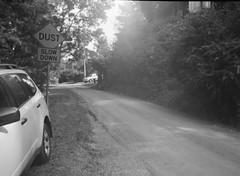Summerlea Road (photo 5) (Matthew Paul Argall) Tags: belomoetude fixedfocus 120film 120 mediumformat ilfordhp5plus 400isofilm hp5 road street summerlearoad blackandwhite blackandwhitefilm