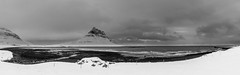 Kirkjufell and the ocean (jfroh_1) Tags: kirkjufell iceland winter panorama ocean waves beach flickrsbest black white bw travel