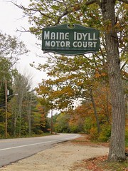 Highway 1 (Larry Myhre) Tags: maineidyll motorcourt vintage neon sign freeport maine highway1 highway