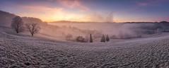 Here comes the Sun☀️ (PhiiiiiiiL) Tags: kirchberg kantonstgallen schweiz ch switzerland sunrise sonnenaufgang panorama cold morning mist fog nebelmeer clouds cloudy nikon d810 toggenburg säntis alpstein
