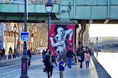 298 - Paris - Février 2019 - le long du Bassin de La Villette (paspog) Tags: paris france bassindelavillette février 2019 fresque fresques streetart mural murals tags graffitis