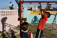 Playing with Shadows-DSC03654-2 (thomschphotography3) Tags: cuba havana havanna lahabana children playground colours shadows streetphotography