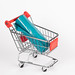 Shopping cart with plastic bags