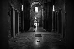 Proportions (muntsa-joan-BW) Tags: blackandwhite bw barcelona church chapel architecture arquitectura catalonia monasterio monochrome monocromo column sombras solitude solitud
