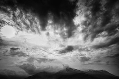 cloud formation over cairngorms (bobbyloomba) Tags: landscape scotland cairngorms blackandwhite clouds mountain