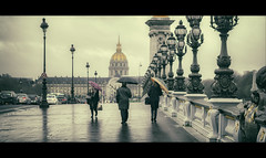 Umbrella day in Paris (Nico Geerlings) Tags: paris france pontalexandre rain raining rainy streetphotography cinematic cinematography ngimages nicogeerlings nicogeerlingsphotography invalides seine bridge fujifilmxh1 xf56mm