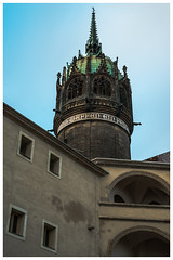 All Sants' Church Tower (nickyt739) Tags: church all saints chapel religious religion wittenberg germany deutschland europe colour colourful architecture explore adventure gothic green building outside looking up nikon flickrsbest fx dslr d750