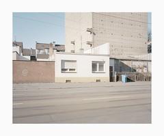 Krefeld, 2019 (Darius Urbanek) Tags: 120 6x7 kodak mamiya7 portra400 analog architecture color film mediumformat germany krefeld decay building street urban bunker
