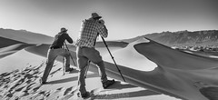 Chasing the Light (ihikesandiego) Tags: mesquite sand dunes death valley national park blackandwhitephotography