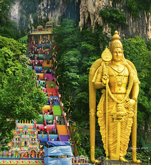 Batu Caves Temple (VERODAR) Tags: batucaves hindu hindutemple caves gombak ampang kualalumpur murugan murugantemple mountains hills river shrines thaipusam thaipusamfestival nikon verodar veronicasridar