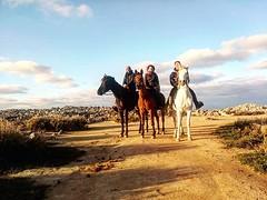 Despues de las vacaciones lo mejor es hacer una ruta a caballo para empezar con energía la vuelta a la rutina!!!!🐎😋🐎 . . Los monitores de Cuadra El Alisal así lo hicieron🐎🐎🐎!!! . . David con Haro:heart