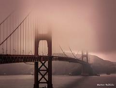 Golden Gate Bridge (1 von 1) (markobablitz) Tags: architecture architektur bauwerke canon eos100 goldengate brücke bridge amerika america himmel sky bucht bay nebel fog wasser water