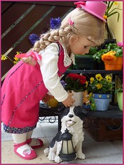 Hello Fred ! (ursula.valtiner) Tags: puppe doll bärbel künstlerpuppe masterpiecedoll hund dog fred bordercollie frühling spring