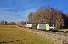 MRCE/TX Logistik 189 993 + 193 671 Vogl (tobias.unsin) Tags: railway rail railroad train zug güterzug germany bahn bavaria bayern tx txl locomotive lok logistik landschaft
