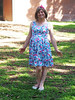 Being A Crossdresser Is A Walk In The Park (justplainrachel) Tags: justplainrachel rachel cd tv crossdresser transvestite retro vintage pink blue floral print vanessatong dress pose park sunny sydney nsw australia cute bow